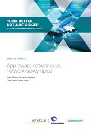 App-Aware Networks vs. Network-Savvy Apps